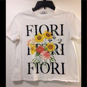 Zara Trafaluc graphic t shirt large